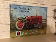 International Harvester McCormick Farmall Farm Tractor sign Lithographed steel