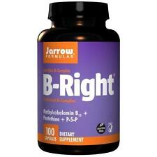 Jarrow Formulas B-right Complex Supports Engery Brain and Cardiovascular Health 100 Veggie Caps