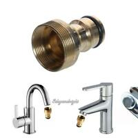 """3/4""""Water Brass Thread Hose Pipe Tube Fitting Garden Tap Quick Connector Adaptor"""