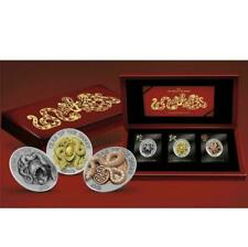 Rwanda 2013 3x500 Francs Three Dimensional Year of The Snake 3x1Oz Silver Coin