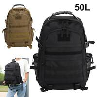 50L Outdoor Military Tactical Army Backpack Rucksack Camping Hiking Trekking Bag