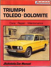 Triumph Toledo & Dolomite 1970-80 1300 1500 1850HL & Sprint Autodata  Manual