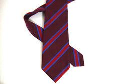 """Borrelli Mens Necktie Tie Burgundy Red Blue Striped Silk/Cashmere 7 Fold 59"""""""