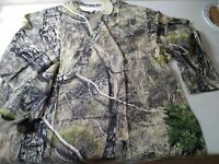 Mossy Oak RIO Woodland Camo Men's Adult T-shirt Long Sleeves Size 3XL
