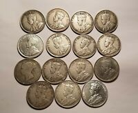 Collection Of 15 Newfoundland Rare 50 Cent Silver Coins IDMS8.