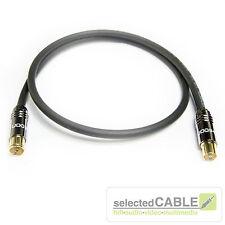 HDTV Antennenkabel 120dB 3-fach geschirmt Class A schwarz IEC LCD 115  HI-ANCM01