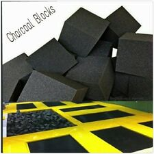 "Foam Pits - Pit Foam Blocks 1000 pcs. (CHARCOAL) 6""x6""x6""  Flame Retardant Foam"