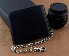 Mens Boys Simple Leather Chain Wallet Biker EMO Gift