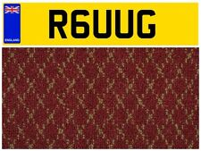 R6 UUG RUG CARPET CARPETS FITTING COMPANY SHOP SHOWROOM VAN TRUCK NUMBER PLATE