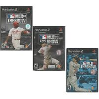 (3 Lot) Sony PlayStation PS2 Black Label MLB 08 09 10 THE SHOW 2008/2009/2010