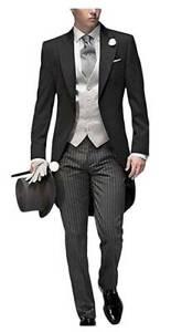 3 Piece Men's Tuxedos Wedding Suit Formal Groom Tailcoat Bridegroom Party Prom
