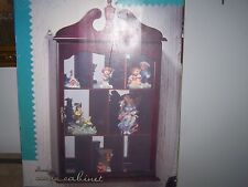 Home Trends Wall Hanging Cherry Curio Display Cabinet