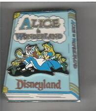 Alice in Wonderland Storybook 3D Authentic Disney DLR Pin on Backer card