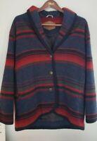 Vtg Woolrich Aztec Navajo Coat Wool Blanket Jacket L 80's Southwest Made in USA.
