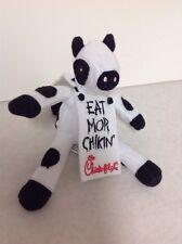 "Chick-fil-A 2008 stuffed plush 6"" Cow w/ Sandwich Board promotion"