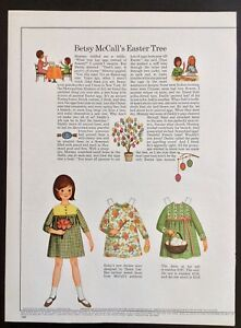 Vintage Betsy McCall Mag. Paper Doll, Betsy McCall's Tree, April 1966