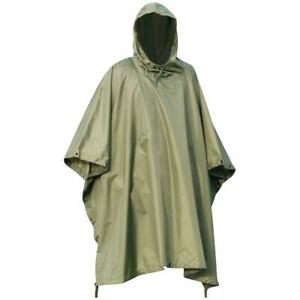 WATERPROOF WATERPROOF MILITARY PONCHO Olive army smock jacket bivi basha shelter