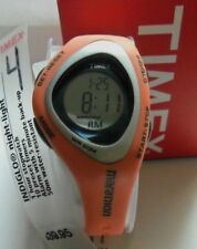 TIMEX WATCH INDIGLO MARATHON T5G211 ORANGE SILICON SPORT BAND WR 50M NEW IN BOX