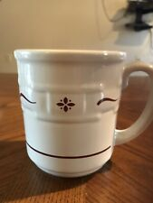 Usa Longaberger Red Woven Traditions Coffee Mug. Excellent Used Condition