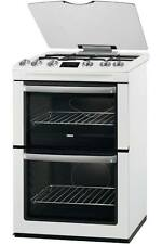 Zanussi ZCG664GWC Freestanding 60cm White FSD/FFD Double Oven Gas Cooker & Grill