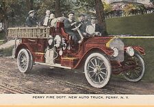 Perry Fire Dept. New Auto Truck Perry NY firefighting  firemen 8826