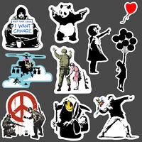 9x Banksy Sticker set vinyl graffiti street art stencil car bmx skate decal