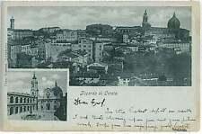 CARTOLINA d'Epoca ANCONA provincia : LORETO - RICORDO 1900