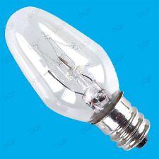 20x 7W DUSK DAWN NIGHT LIGHT LAMP SPARE MINI BULBS E12 CANDELABRA CES 12MM SCREW