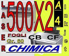 CARTA CHIMICA 2 COPIE RIC.FISCALI X STAMPANTI LASER INKJET A4 BIANCA GIALLA