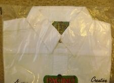 Niño PACINO Blanco Camisa de manga larga 100% Algodón 40.6cm Pit A Axila -
