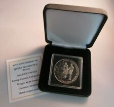 More details for 1952-1992 40th anniversary of reign bunc 50p fifty pence crown coin box & coa