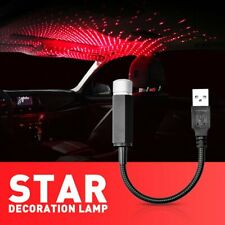 RED USB Interior Atmosphere Star Sky Lamp Ambient Star Light Car LED Projector E