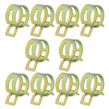 10Pcs 22mm Spring Clip Fuel Line Hose Water Pipe Air Tube Clamps Fastener