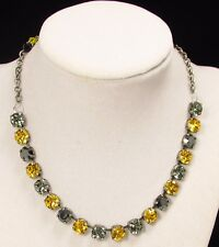 STEELERS Crystal Necklace, Cup Chain Necklace made w/ BLACK Swarovski Crystals