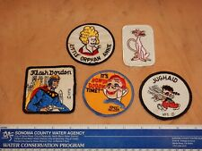 Lot Of 5 Vintage, Original Cartoon, Comic Character Patches, (Lot 5) Nos