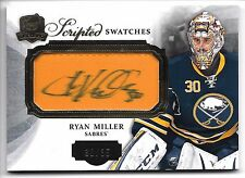 2013-14 The Cup RYAN MILLER SCRIPTED SWATCHES AUTO PATCH #30/35 JERSEY NUMBER!!