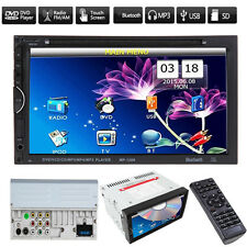 """Double 2 Din 7"""" In Dash Stereo Car DVD CD Player Bluetooth Radio SD/USB for iPod"""