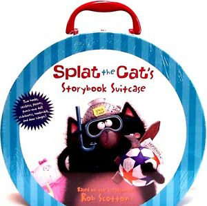 Splat the Cat Storybook Suitcase : 2 books,stickers,poster,bookmark,hanger +++