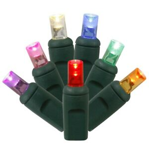 Vickerman 50 Multicolor Wide Angle LED Lights25 ft. Christmas Light Set w/6 in.