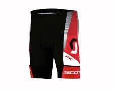 """Scott Damen-Fahrradhose """"RC"""" in Schwarz-Weiß-Rot, Größe M - 38, mit Polster"""