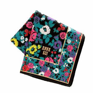 Anna Sui Handkerchief 0502 Blue Made in Japan 100% Cotton