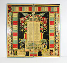 Antique Rare 1887 Race For The Presidency Game Board Politics Election Usa