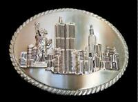 New York NY City Twin Towers Belt Buckle Statue Liberty Belts Buckles