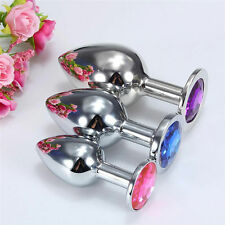 Portable Female Male Metal Plug Crystal Jewelry Stainless Steel+ 3 Size