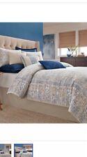 Nip Wamsutta Tapestry Gray Blue California King Comforter Bedskirt & Shams Set
