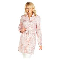 Cotton Blend Casual Floral Shirt Dresses