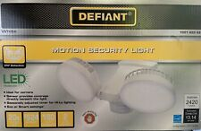 Defiant 270-Degree 2400 Lumens White Motion Activated Outdoor Integrated LED Flo