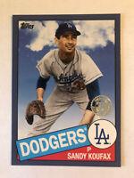 Sandy Koufax 2020 Topps Retro 1985 BLUE #85-55  LA Dodgers HOF