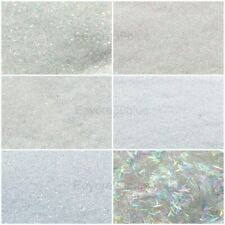 SPARKLING WHITE SNOWSTORM Snow Glitter 5 gram Packs Dust or Strips - Xmas Crafts