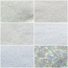 SPARKLING WHITE SNOWSTORM Snow Glitter 5 gram Packs Dust or Strips - Crafts